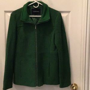 Lands' End Kelly Green Wool Coat
